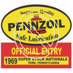 Pennzoil Official Entry 1969 Super Stock Nationals York, PA