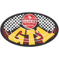 Kendall GT-1 checkered background