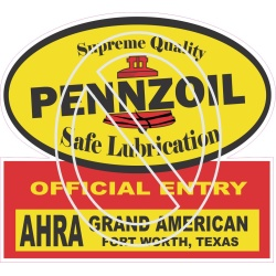 Pennzoil AHRA Grand American Official Entry